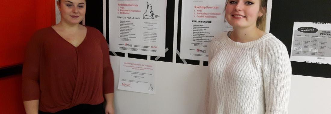 Des stagiaires de l'Université McGill à l'Auberge Madeleine